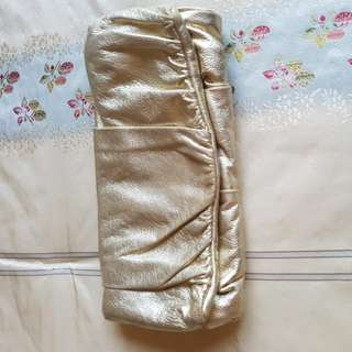 Authentic Dolci & Gabbana Clutch In Gold