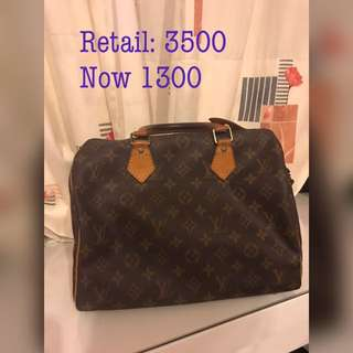 Vintage Louis Vuitton LV speedy 30