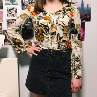 Long Sleeved Floral Top