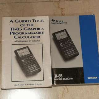$15 Texas Instruments TI-85 Graphing Calculator Guidebooks
