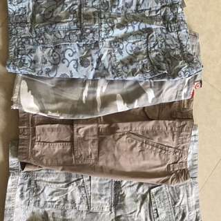 Billabong and Other Branded Bermudas