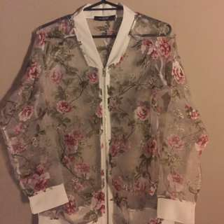 Floral Chiffon Top/Jacket