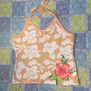 Halter/Backless Floral Top