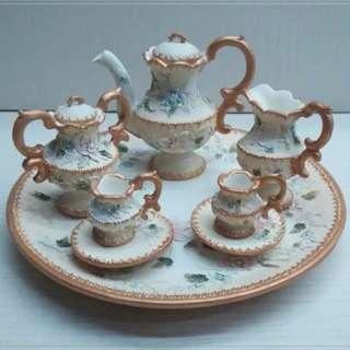 90%new 英倫維多利亞茶具擺件