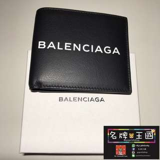 [全新] BALENCIAGA Bi-Fold Leather Wallet