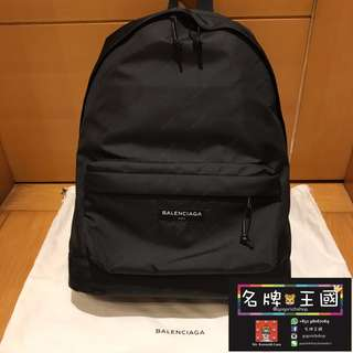 [全新] BALENCIAGA Logo-Print Nylon Backpack