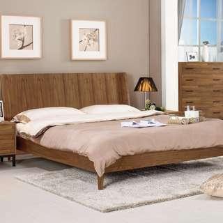 漢諾瓦6尺雙人床(床頭+床底)