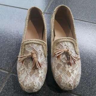 Lace Platform Shoes