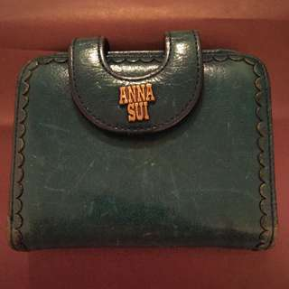 Anna Sui Green Wallet - Authentic