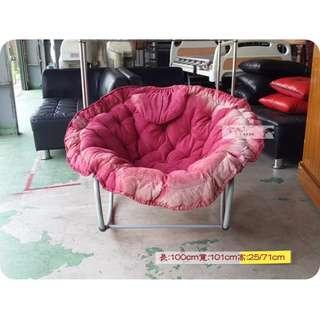 全鑫二手傢俱【紅色休閒搖椅】太空椅 懶人椅 圓椅 躺椅 房間椅ღ詳情請看商品說明ღ專業收購2手家具沙發床貴妃椅嬰兒床板凳