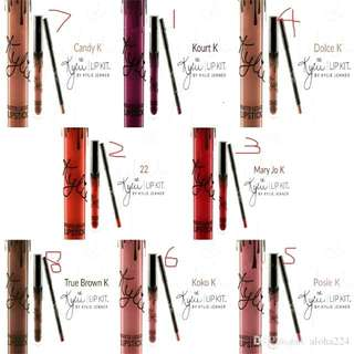 KYLIE LIQUID LIPSTICK and RETRACTABLE LIP LINER  (Mary Jo K)