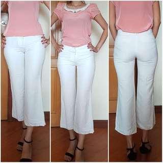 G200 White Capri Pants