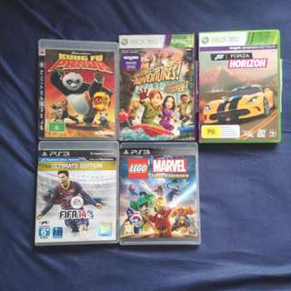 PS3, XBOX 360 & XBOX 360 KINECT GAMES