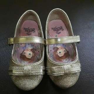 Sophia Gold Glittery Shoes