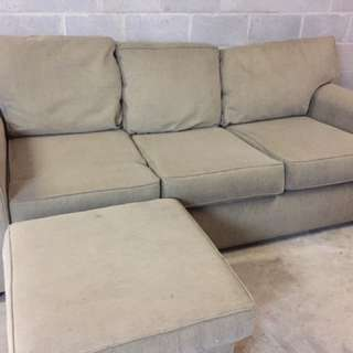 Three Seater Lounge With Ottoman