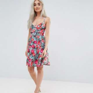 ASOS Cross Back Skater Dress