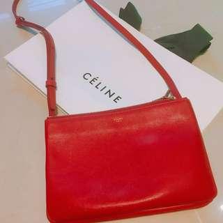 Celine Trio 袋 Red 手袋 斜咩袋