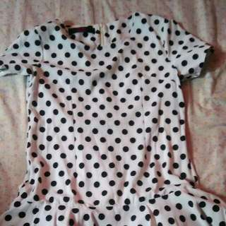 polka Korean inspired top