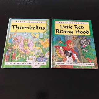 Guc 3x Books Hardcover Children's fairy tale stories
