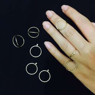H&M Gold Stack Rings