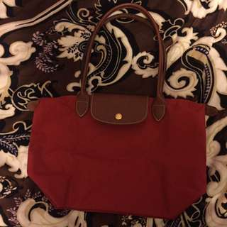 Small Red Long Champ Bag