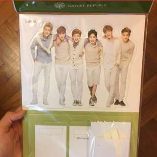 EXO NATURE REPUBLIC STANDEE AND STICKIES