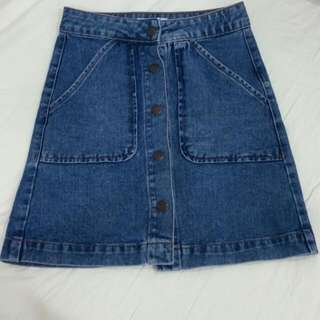 BNWOT Forever 21 Denim Skirt