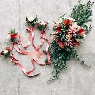 Floral Door Handle Decor For Wedding