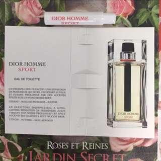 👑 迪奧 Dior HOMME SPORT 男性運動淡香水 1ml 針管試管香水
