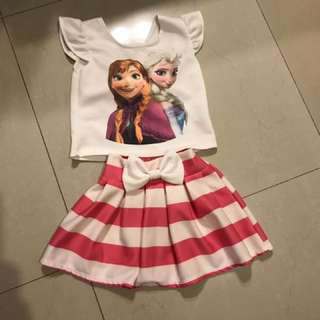 Elsa and anna frozen Dress for 3-4 Year Old.
