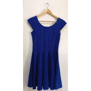 Royal Blue Embossed Dress