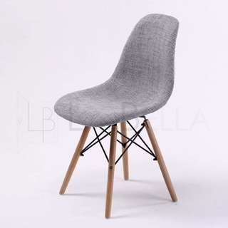 8 x Replica Eames Fabric DSW Padded Dining Chair Foam Padded Fabric