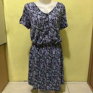 Dress Bunga Ungu Body & Soul