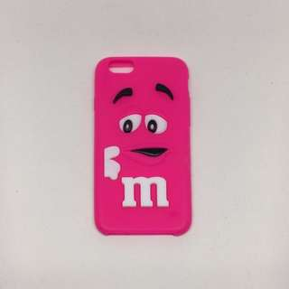 3D Silicone Hot Pink M&M iPhone 6s Case