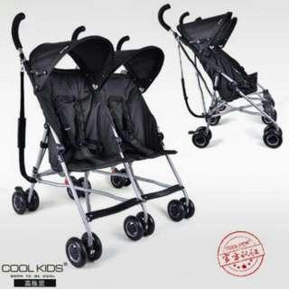 全新現貨 日本雙胞胎推車傘車正品Cool kids 日本國民雙人推車 4.9公斤 大小寶推車 旅行外出專用車