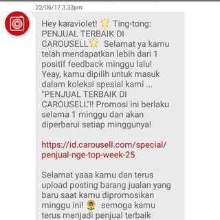 Penjual Terbaik Carousell :-)