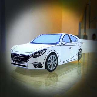 Paper Craft - Mazda 3 (Axela) Hatchback