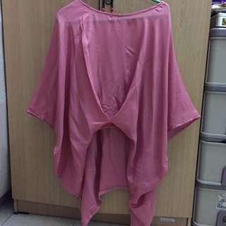 Atasan Pink Satin Silk