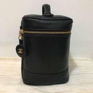 Authentic Chanel Lambskin Cosmetic Vanity Bag