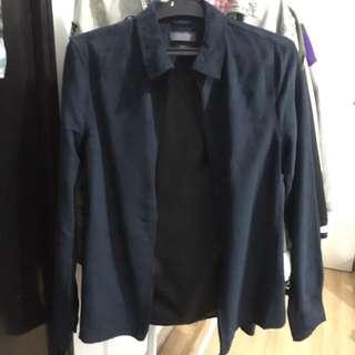 Jaket Zara Biru Fancy