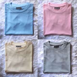 Pastel And Dark Colored Plain T-Shirts