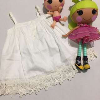 Gingersnap White Dress (12months)