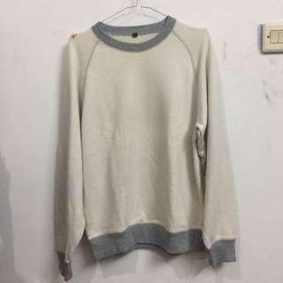 male cream sweater