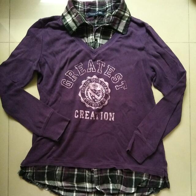 假2件長袖上衣L    #我的旋轉衣櫃  #冬季衣物 #假2件。#雙十一女裝出清