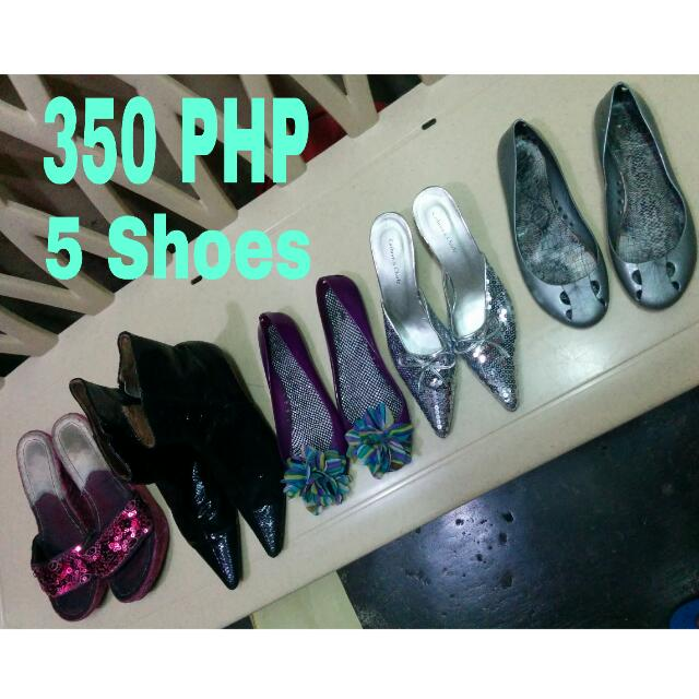 350 Php 5shoes Imported In Good Condition