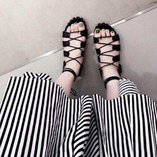羅馬綁帶涼鞋