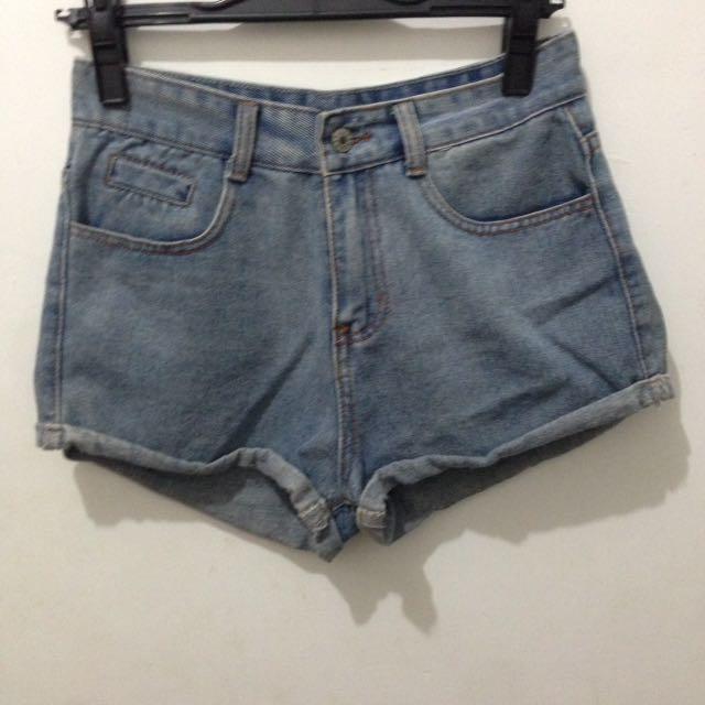 [全新]復古 刷色 牛仔 短褲 #夏日九九出清 #女裝九九出清