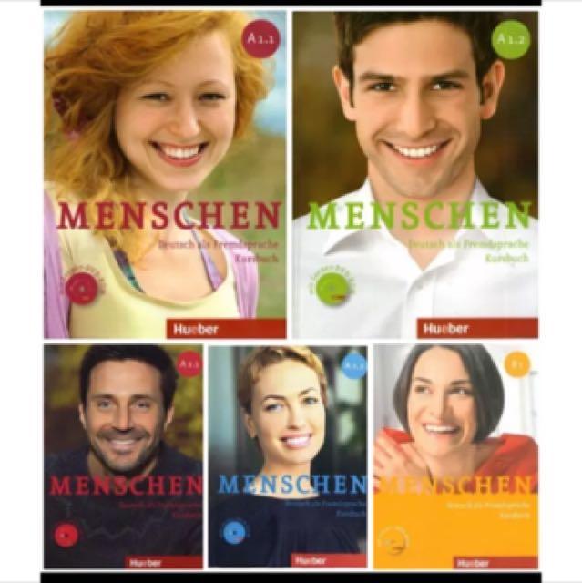 德文課本 德語 Menschen A1.1/A1.2/A2.1/A2.2/B1.1/B1.2