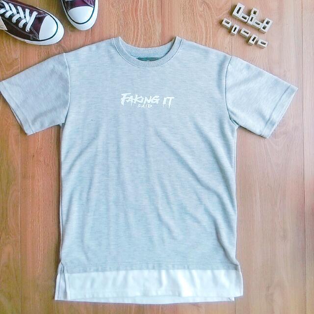 假兩件 休閒 T shirt