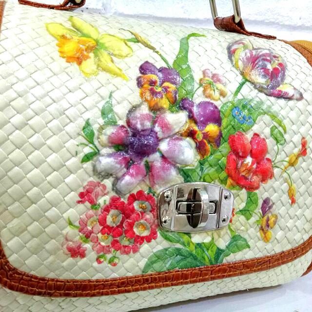 Floral Decoupage Handbag